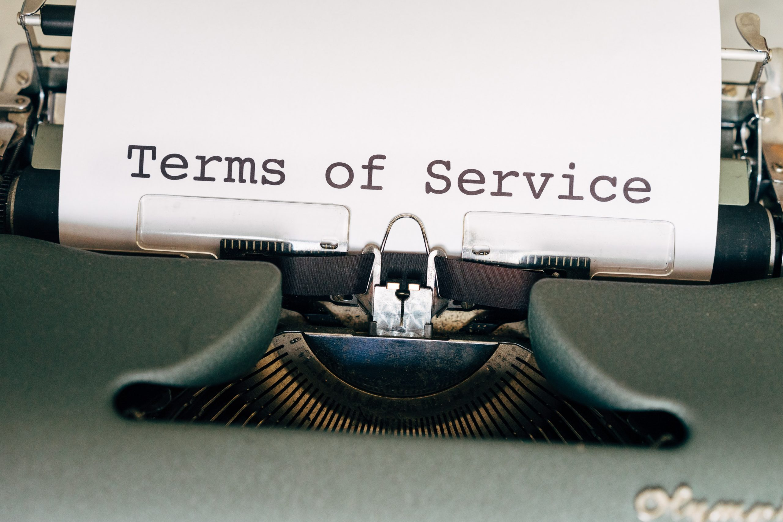 typewriter terms of service